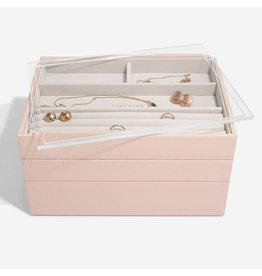 Stackers Boîte à bijoux Blush Classic avec couvercle d'affichage