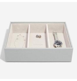 Stackers Boîte à bijoux Pebble grey Classic 3 compartiments