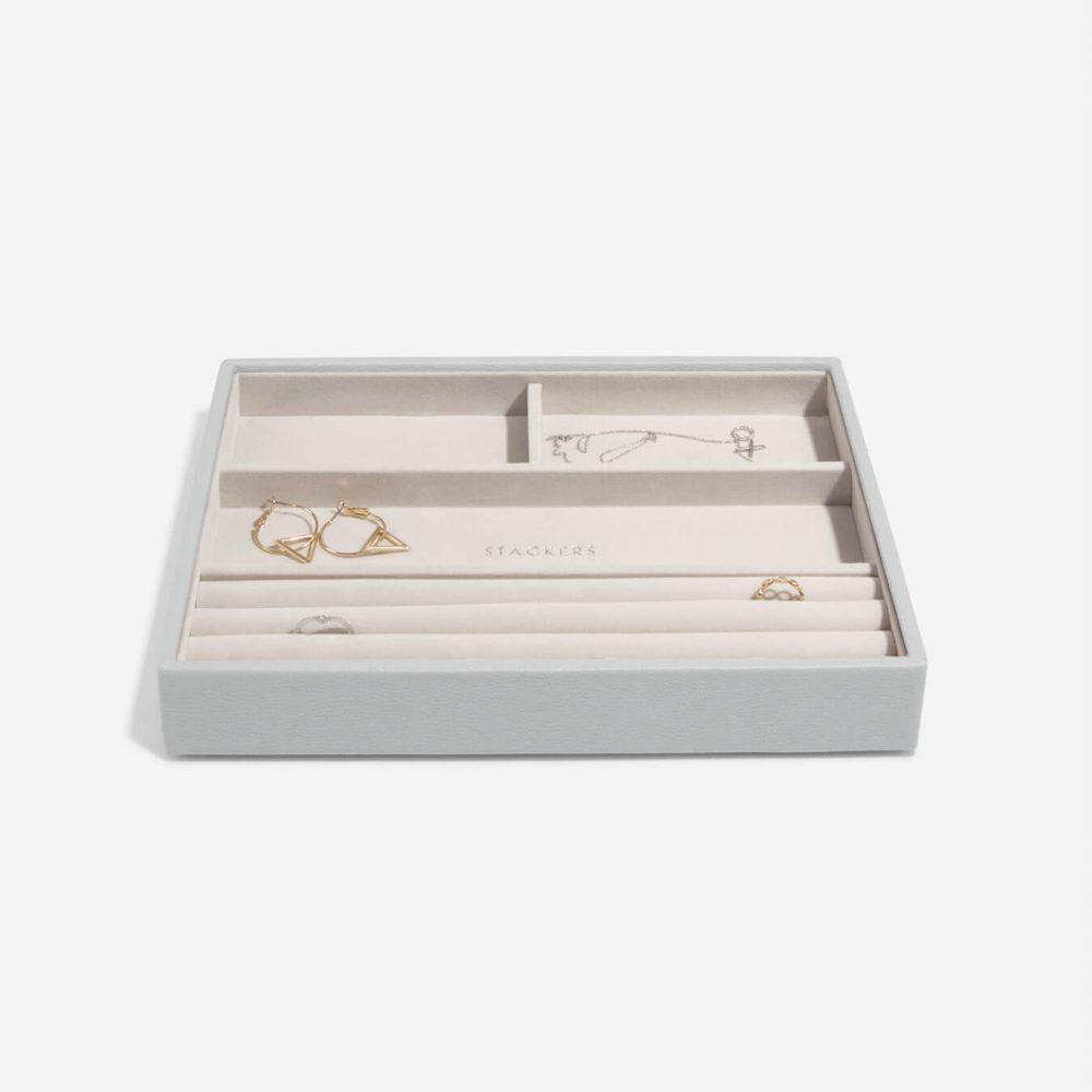 Boîte à bijoux Pebble GreyClassic 4 compartiments