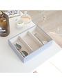 Boîte à bijoux Lavender Classic 3 compartiments