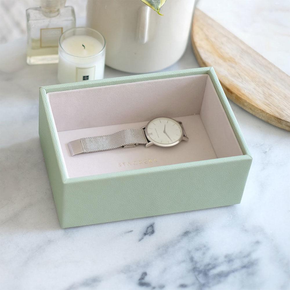 Boîte à bijoux Sage Green Mini 1 compartiment