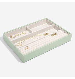 Stackers Boîte à bijoux Sage Green Classic 4 compartiments
