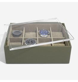 Stackers Boîte de Montre Pour 8 montres Olive Green