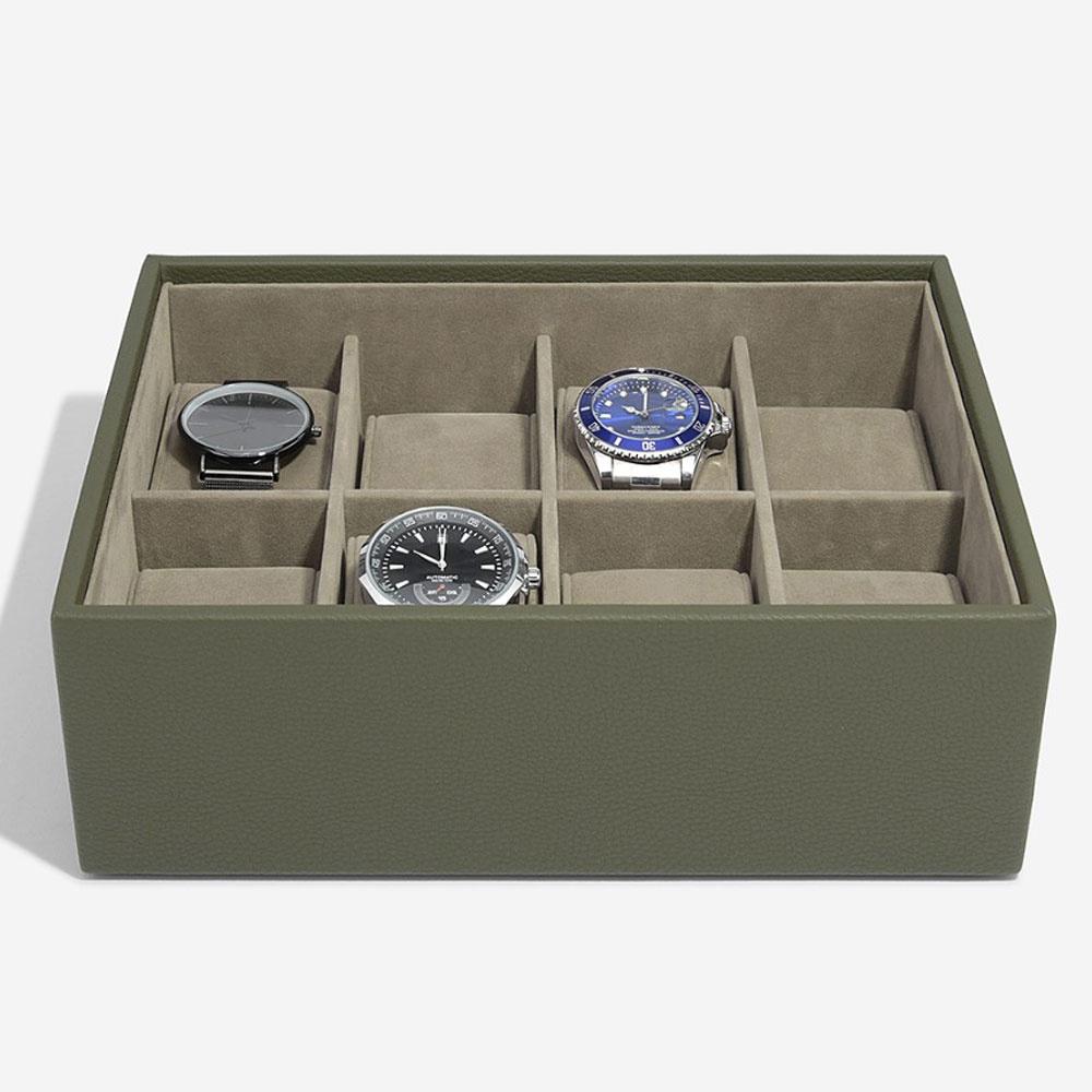 Boîte de Montre Pour 8 Montres Olive Green