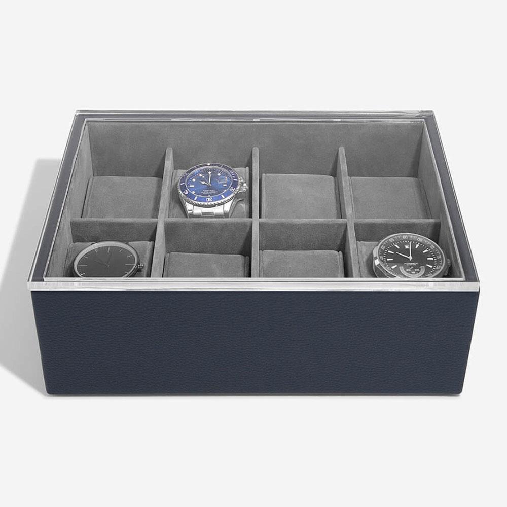 Uhrenbox für 8 Uhren Navy Blue