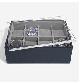 Stackers Boîte de Montre Pour 8 montres Navy Blue