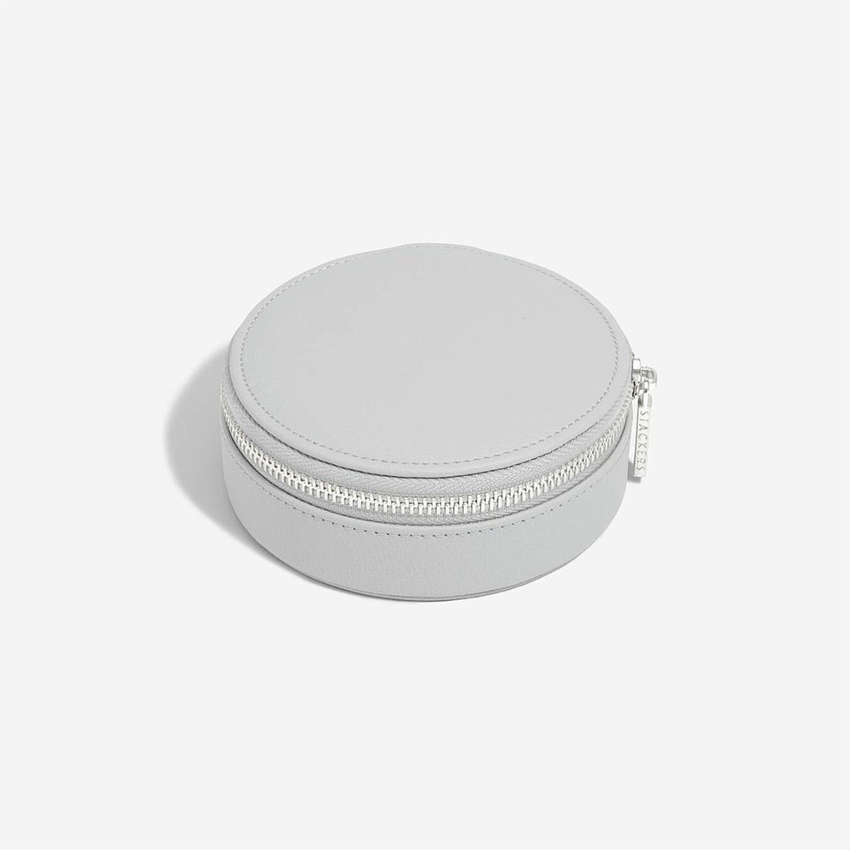 Boîte à bijoux Pebble Grey pochette de voyage autour