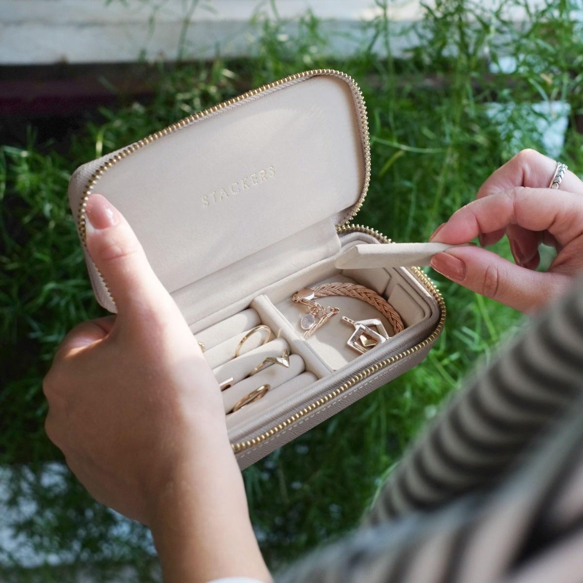Boîte à Bijoux  Voyage Taupe