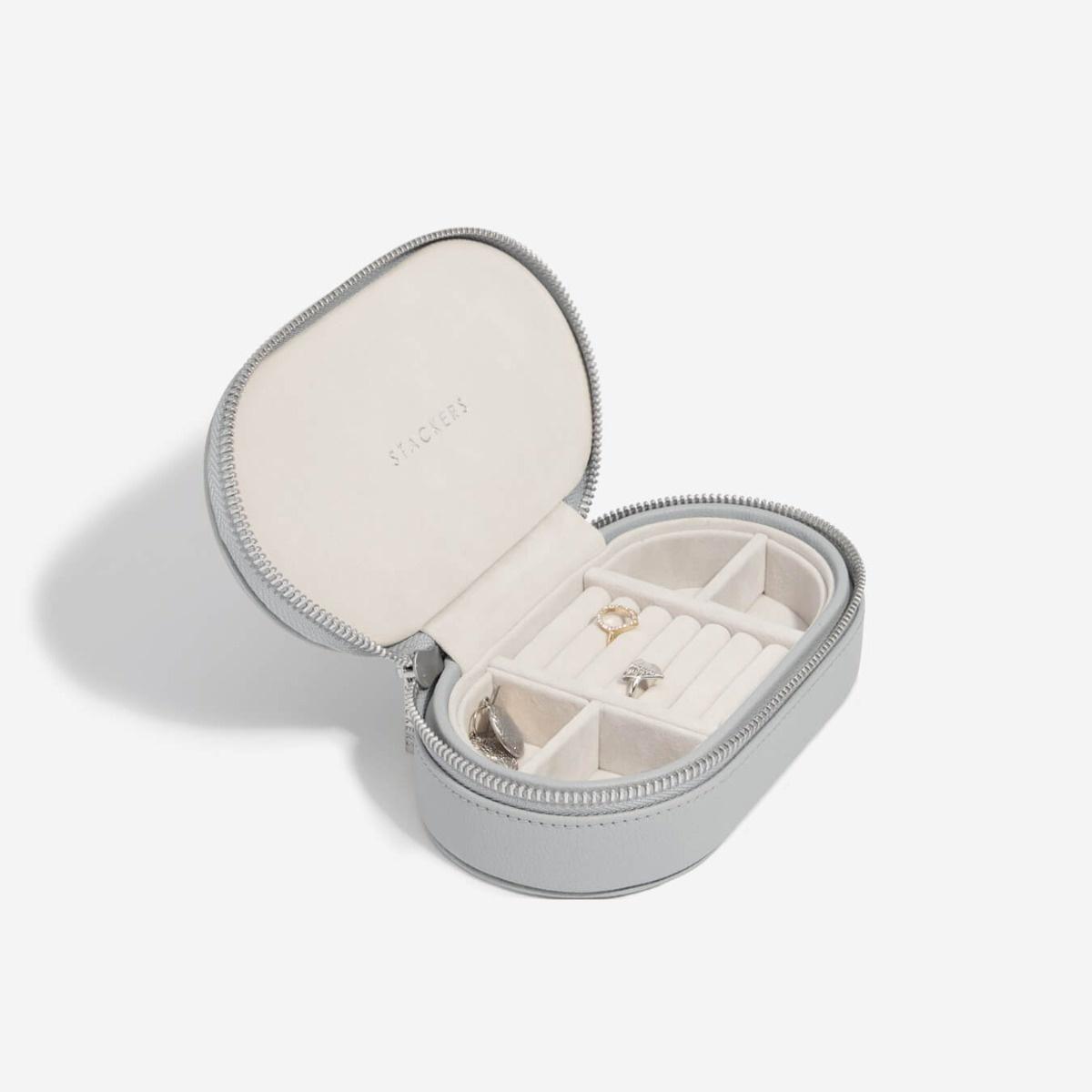 Boîte à Bijoux  Voyage ovale Pebble Grey