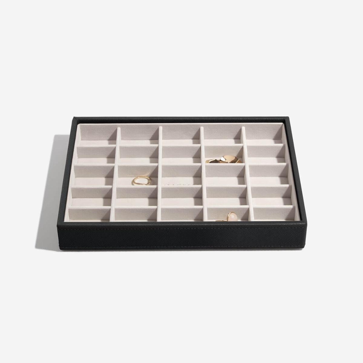 Boîte à bijoux Black CLassic 25 compartiments