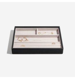 Stackers Boîte à bijoux Black Classic 4 compartiments