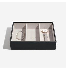 Stackers Boîte à bijoux Black Classic 3 compartiments
