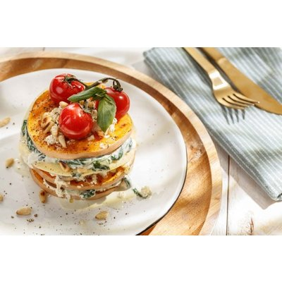 Open lasagne met Rosso Puglia