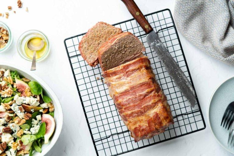 Gehaktbrood met vijgensalade en Gamay Noir