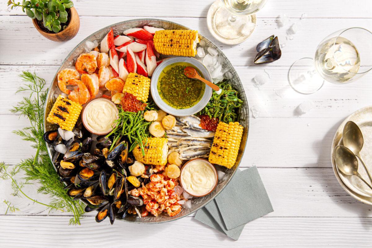 Fruits de mer en Chablis Domaine des Genèves