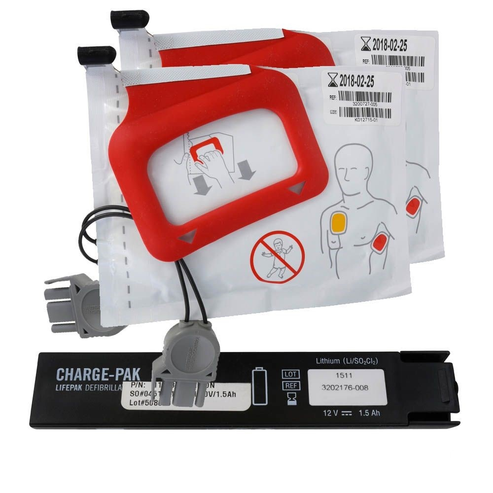 LIFEPAK Charge-pak Charging Unit & 2 elektrodes LIFEPAK CR plus
