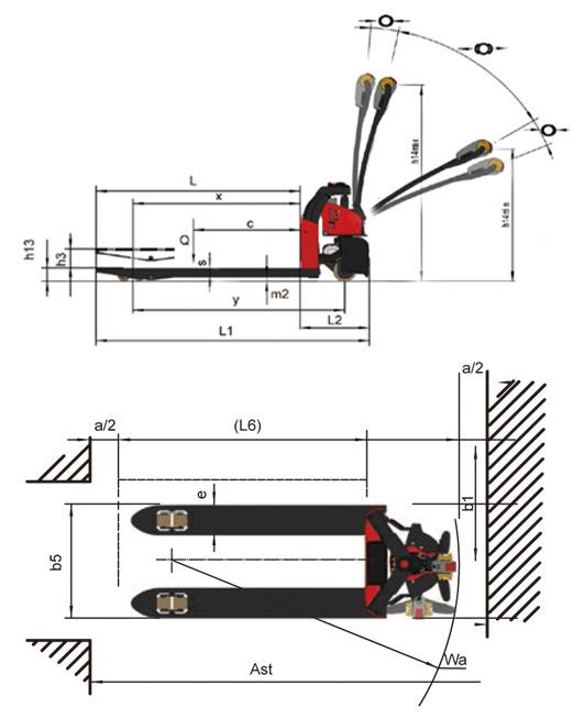 CTB EPT-12EZ pallettruck afmetingen