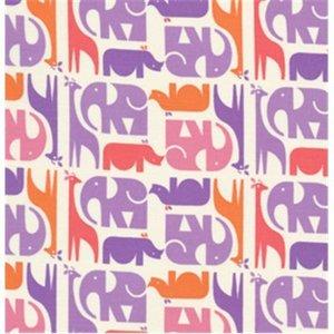 Baumwollstoff Animal Stripe purple