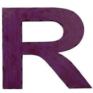 Bloomingville Letter R aus Metall violett