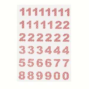 Calender Numbers Anna red, 1-24