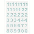 Calender Numbers Ida pale blue, 1-24