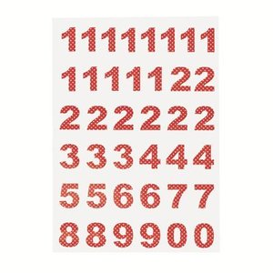 GreenGate Calender Numbers Spot red, 1-24