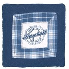 Quilted Cushion Baseball blue 50