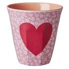 Rice Melamine Cup Heart