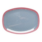 Rice Rectangular Melamine Plate with Sailor Stripe Print