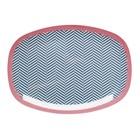 Rice Rectangular Melamine Plate with Sailor Stripe Print
