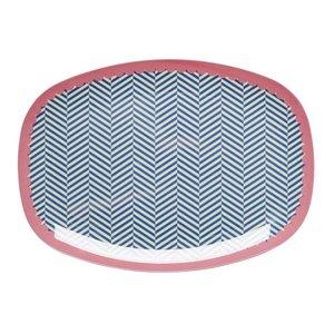 Rice Rectangular Melamine Plate Sailor Stripe