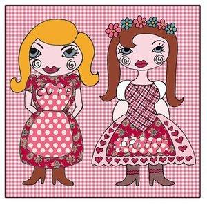 Room Seven Kissenbezug Dolls pink 30