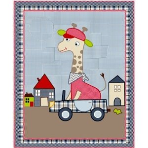 Room Seven Quilt Giraffe Boy