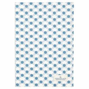 GreenGate Tea Towel Lolly blue