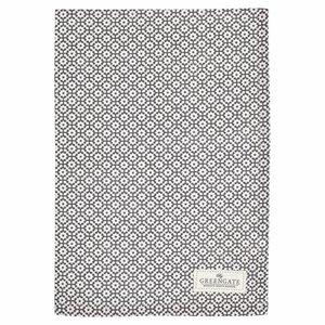 GreenGate Tea Towel Jasmina warm grey