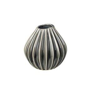 Broste Copenhagen Vase wide Ceramic 15x15 smoked pearl