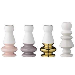 Bloomingville Candle Stick Multi-Color Ceramic, Set of 4 6,5x13, 6,5x14