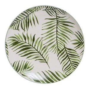 Bloomingville Jade Plate green Leaf D: 20