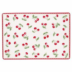 GreenGate Keramikbrettchen Cherry white