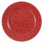 Green Gate Plate Dot red