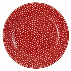 Green Gate Dessertteller Dot red 20,5 cm