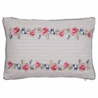 Green Gate Quilted Cushion Hailey white embr