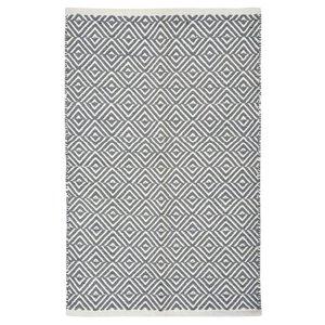 Baumwollteppich Grafik grau 60x90
