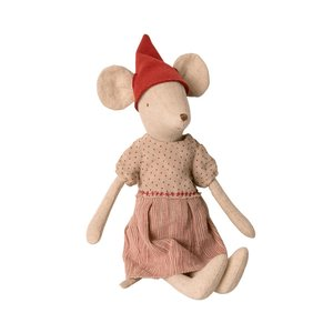 Maileg Chrismas Mouse Medium Girl