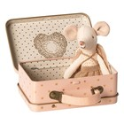 Maileg Guardian Angel in Suitcase Little Sister Mouse