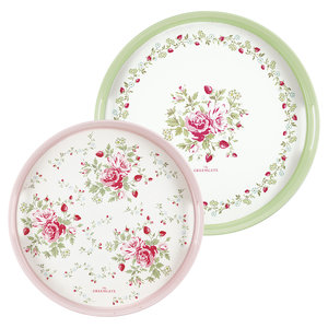 Green Gate Tablett Mary round, Set of 2