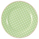 Green Gate Plate Spot pale green