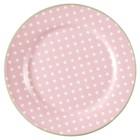 Green Gate Plate Spot pale pink