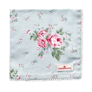 Green Gate Limitiert! Napkin w. lace Marley pale blue