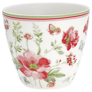 Green Gate Latte Cup Meadow white